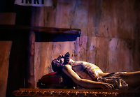 """""""Christ rests in anticipation - Sant'Andrea Duomo di Amalfi""""... <br /> <br /> On the last of three glorious days in Positano, I arose early to catch sunrise over the village. However, at about 10:00 am …the cold rains came down dampening the glorious sun. I caught the rain soaked ferry down the coast to the seaside town of Amalfi. The Cattedrale di Sant'Andrea/Duomo di Amalfi is usually packed with tourists bused and ferried from hundreds of miles away, but with the dreary weather many chose to stay away. There has been a church on this site in Amalfi since 596 AD and the one built in the 9th century still stands today. The present cathedral was built adjacent to the old one in the early 13th century to provide a suitable resting place for St. Andrew the Apostle. The two were originally joined together to form a single, six-nave Romanesque cathedral. Pieces of the newer walls have been taken down to expose parts of the walls of the ancient original church, and one can ponder history by this glimpse back in time. This solemn and reverent image was captured in the main Sanctuary of Christ resting in his glorious anticipation of the resurrection."""