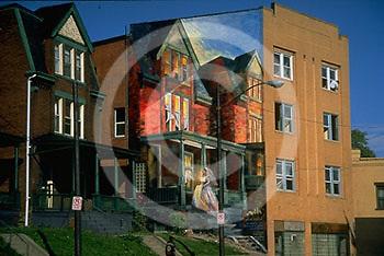 Pittsburgh, PA, Penn Avenue, Friendship Neighborhood House Mural, Artist  Judy Penzer
