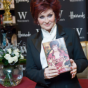 """TV Personality Sharon Osbourne at the signing of her latest book """"Survivor"""" London Harrods, 12th December 2007"""