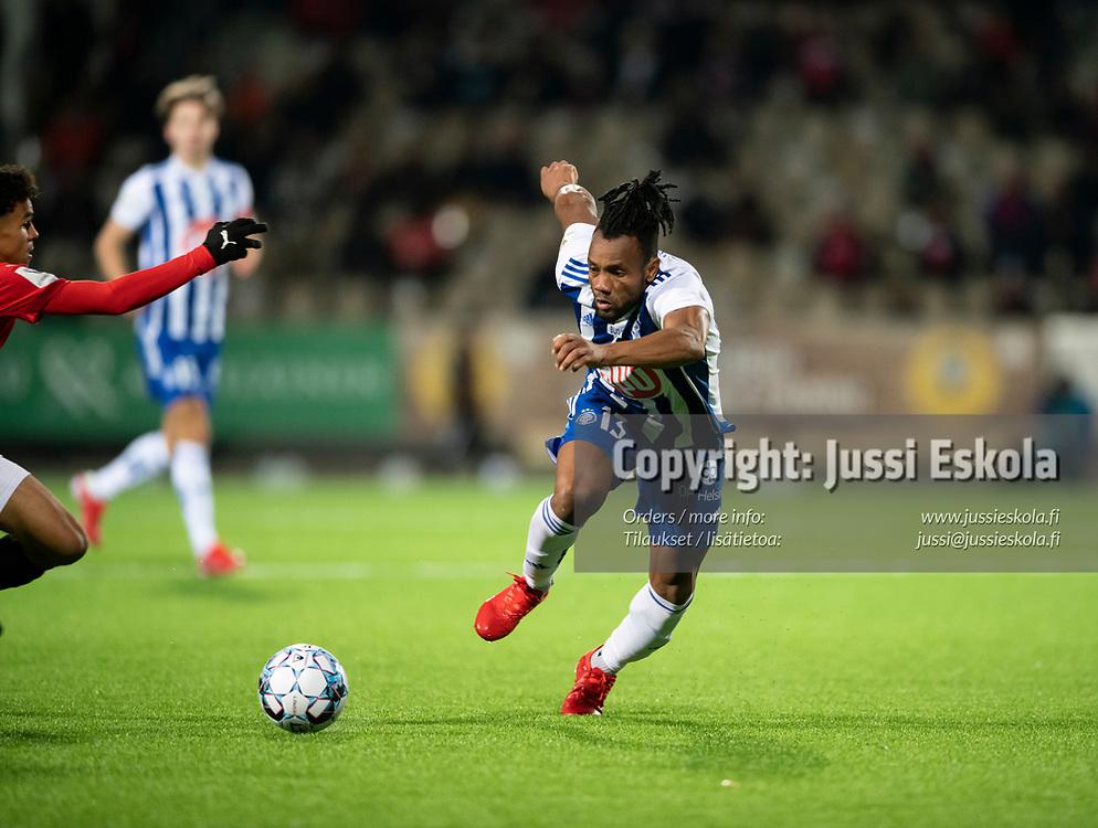 Luis Carlos Murillo. HJK - HIFK. Veikkausliiga 22.9.2021. Photo: Jussi Eskola