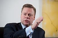 21 JAN 2010, BERLIN/GERMANY:<br /> Iaian Conn, Chief executive Refining and Marketing, Executive member of the BP board of directors, waehrend einem Interview, BP Buero Berlin<br /> IMAGE: 20100121-01-019