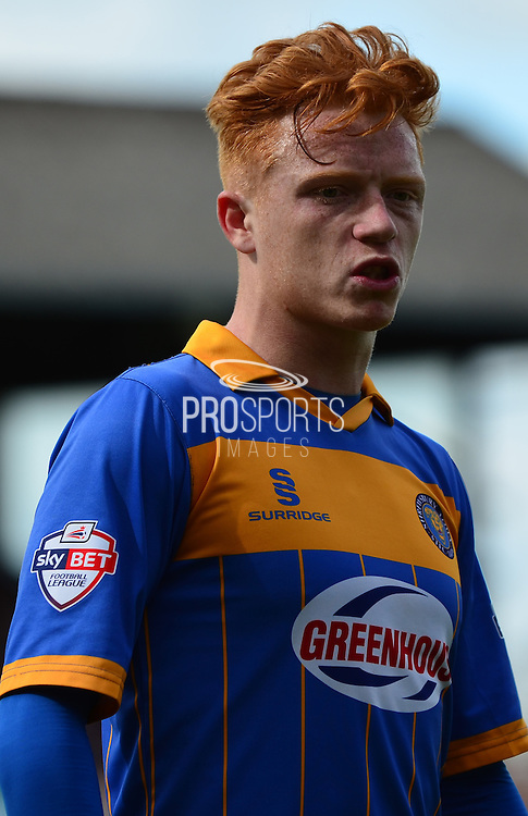 Ryan Woods during the Sky Bet League 2 match between Cheltenham Town and Shrewsbury Town at Whaddon Road, Cheltenham, England on 25 April 2015. Photo by Alan Franklin.