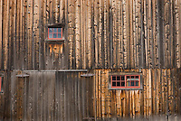 Weathered wood on side of barn in Vermont USA