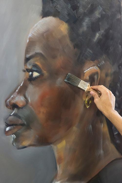 Art Academy, Portrait Painting Masterclass with Tim Benson, Summer School, Art Academy, Mermaid Court, London, England, on 17th August 2018