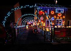Christmas decorations, Prestonpans, 9 December 2019