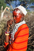 Coronation of a new Maasai chief at a meeting of the elders (ilpayiani). Sinya, Tanzania