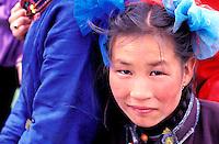 Mongolie, Province de Ovorkhangai, Vallee de l'Orkhon, campement nomade, famille mongole // Mongolia, Ovorkhangai province, Okhon valley, Nomad camp, mongolian family