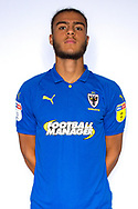 AFC Wimbledon defender Nesta Guinness-Walker (18) during the official team photocall for AFC Wimbledon at the Cherry Red Records Stadium, Kingston, England on 8 August 2019.