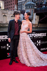 Laura Haddock is joined by her stunt double Alina Andrei at the US Premier of 'Transformers: The Last Knight' on the Chicago River in front of the Civic Opera House on Tuesday June 20, 2017 in Chicago, IL. Photo: Christopher Dilts / Sipa USA *** Please Use Credit from Credit Field ***
