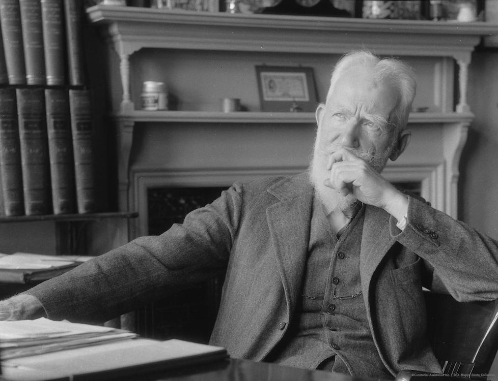 George Bernard Shaw, Irish Playwright and Author, 1930