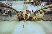 Boeing 737 Aircraft airframe assembly in Wichita, Kansas.