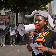 Protest against the Zimbabwe Live Baby Elephants Trade to Zoos Worldwide