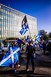 18SEP20 All Under One Banner demo outside the BBC at Pacific Quay.