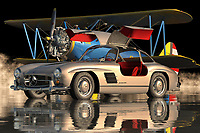 The Mercedes 300SL Gullwing is an exceptional automobile, which was introduced in the year 1964. Since its inception the Mercedes brand has evolved and has achieved its present success. This vehicle has been manufactured in such a way that it does not compromise on any aspect, be it design or engineering. The car features an excellent roadster's layout, which has helped it gain a high acceptance rate among its customers.