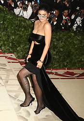 May 7, 2018 - New York City, New York, U.S. - KYLIE JENNER attends the Costume Institute Benefit celebrating the opening of Heavenly Bodies: Fashion and the Catholic Imagination exhibit held at at The Metropolitan Museum of Art. (Credit Image: © Nancy Kaszerman via ZUMA Wire)