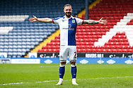 Goal 1-1 Blackburn Rovers forward Adam Armstrong (7) scores a goal 1-1 from the penalty spot  and celebrates during the EFL Sky Bet Championship match between Blackburn Rovers and Birmingham City at Ewood Park, Blackburn, England on 8 May 2021.