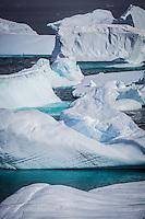 Ice formations around Petermann Island, Antarctica.
