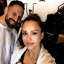 """Jessica Alba releases a photo on Instagram with the following caption: """"#weekendwarrior \ud83d\udcaa\ud83c\udffd\ud83e\udd30\ud83c\udffd\ud83d\udca6 thx to @heartfilledhustler @heartandhustlegym chk out my stories to see what I did for fitness\ud83d\ude1c"""". Photo Credit: Instagram *** No USA Distribution *** For Editorial Use Only *** Not to be Published in Books or Photo Books ***  Please note: Fees charged by the agency are for the agency's services only, and do not, nor are they intended to, convey to the user any ownership of Copyright or License in the material. The agency does not claim any ownership including but not limited to Copyright or License in the attached material. By publishing this material you expressly agree to indemnify and to hold the agency and its directors, shareholders and employees harmless from any loss, claims, damages, demands, expenses (including legal fees), or any causes of action or allegation against the agency arising out of or connected in any way with publication of the material."""