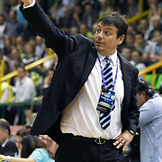 Efes Pilsen's coach Ergin ATAMAN during their Turkish Basketball league Play Off Final first leg match Efes Pilsen between Fenerbahce Ulker at the Ayhan Sahenk Arena in Istanbul Turkey on Thursday 20 May 2010. Photo by Aykut AKICI/TURKPIX