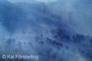 V. 08. Valencia 29/08/2003. Vista general de los montes entre Buñol y Chiva donde se declaró un incendio anoche que ya ha arrasaado 500 hectareas. EFE / Kai Försterling.