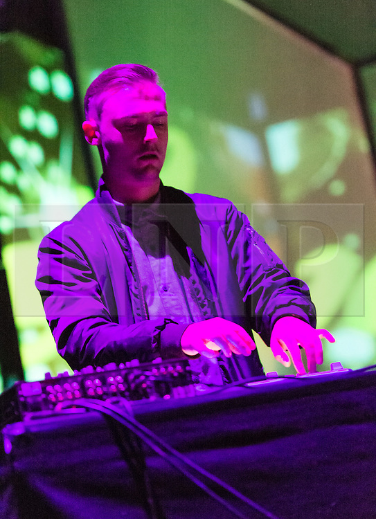 © Licensed to London News Pictures. 01/05/2015. London, UK.   Lapalux performing live at Brixton Academy, supporting headliner Flying Lotus.  Lapalux is DJ and record producer Stuart Howard, who is promoting his latest album Lustmore just released this month on the Ninja Tune record label. Photo credit : Richard Isaac/LNP