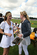 Lady Tatiana Mountbatten and Hannah Clarke, The Veuve Clicquot Gold Cup 2007. Cowdray Park, Midhurst. 22 July 2007.  -DO NOT ARCHIVE-© Copyright Photograph by Dafydd Jones. 248 Clapham Rd. London SW9 0PZ. Tel 0207 820 0771. www.dafjones.com.