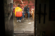 Some african migrants in Lakaxita. Irun (Basque Country). August 14, 2018. Lakaxita is a self-managed socio-cultural space located in an occupied house, where voluntiers have created a hosting network for migrants in transit who have already completed the 5-day period that can remain in public resources. This group of volunteers is avoiding a serious humanitarian problem Irún, the Basque municipality on the border with Hendaye. As the number of migrants arriving on the coasts of southern Spain incresead, more and more migrants are heading north to the border city of Irun. (Gari Garaialde / Bostok Photo)
