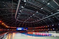 Lights Optisport Sportboulevard hall during ISU World Short Track speed skating Championships on March 06, 2021 in Dordrecht
