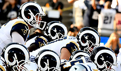 August 12, 2017 - Los Angeles, California, U.S. - Los Angeles Rams quarterback Jared Goff, left, in the first half of a NFL pre-season football game against the Dallas Cowboys at the Los Angeles Memorial Coliseum on Saturday, Aug. 12, 2017 in Los Angeles. (Photo by Keith Birmingham, Pasadena Star-News/SCNG) (Credit Image: © San Gabriel Valley Tribune via ZUMA Wire)