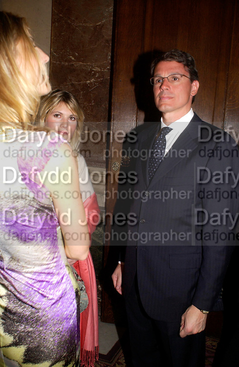 VIVIA FERRAGAMO and  FERRUCCIO FERRARA . Fashion show and dinner hosted by Shangri-la Hotels and Andy Wong featuring fashion by new designer Lu Kun held at The Goldsmiths Hall, Foster Lane, London on 25th April 2005ONE TIME USE ONLY - DO NOT ARCHIVE  © Copyright Photograph by Dafydd Jones 66 Stockwell Park Rd. London SW9 0DA Tel 020 7733 0108 www.dafjones.com