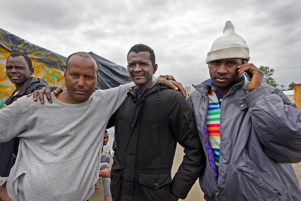 Friends, The Jungle, refugee camp, Calais, France