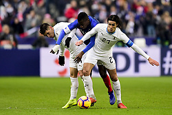 November 20, 2018 - St Denis, France, France - Blaise Matuidi (France) vs Edinson Cavani (Uruguay) / Lucas Torreira  (Credit Image: © Panoramic via ZUMA Press)