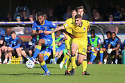 AFC Wimbledon striker Tyrone Barnett (23) dribbling and on the attack during the EFL Sky Bet League 1 match between AFC Wimbledon and Bristol Rovers at the Cherry Red Records Stadium, Kingston, England on 8 April 2017. Photo by Matthew Redman.