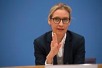 DEU, Deutschland, Germany, Berlin, 25.09.2017: Die AfD-Spitzenkandidatin Alice Weidel, Alternative für Deutschland (AfD), in der Bundespressekonferenz zu den Ergebnissen der Bundestagswahlen.