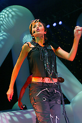 Dannii Minogue performs on the Smash Hits 2002 tour, on stage at the Glasgow Armadillo..©2010 Michael Schofield. All Rights Reserved.