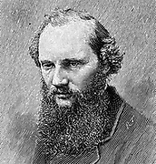 William Thomson, Lord Kelvin (1824-1907), Scottish mathematician and physicist, at the age of 45. Engraving.