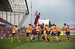 September 9, 2017 - Limerick, Ireland - Jean Kleyn of Munster with the ball during the Guinness PRO14 rugby match between Munster Rugby and Cheetahs Rugby at Thomond Park in Limerick, Ireland on September 9, 2017  (Credit Image: © Andrew Surma/NurPhoto via ZUMA Press)
