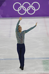 February 17, 2018 - Pyeongchang, KOREA - Adam Rippon of the United States after competing in the men's figure skating free skate program during the Pyeongchang 2018 Olympic Winter Games at Gangneung Ice Arena. (Credit Image: © David McIntyre via ZUMA Wire)