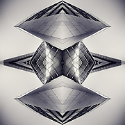 Part of a building that I mirrored several times - makes a cool space ship