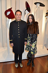 DETMAR BLOW and REBECCA THOMAS at a private view of Isabella Blow: Fashion Galore! held at Somerset House, London on 19th November 2013.