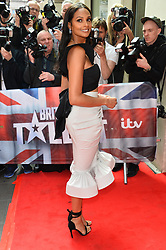 © Licensed to London News Pictures. 12/04/2017.  ALESHA DIXON arrives for the launch of the new series of ITV's Britain's Got Talent. London, UK. Photo credit: Ray Tang/LNP