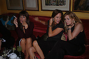 Claudia Winkleman, Emily Oppenheim. Artists Independent Networks  Pre-BAFTA Party at Annabel's co hosted by Charles Finch and Chanel. Berkeley Sq. London. 11 February 2005. . ONE TIME USE ONLY - DO NOT ARCHIVE  © Copyright Photograph by Dafydd Jones 66 Stockwell Park Rd. London SW9 0DA Tel 020 7733 0108 www.dafjones.com