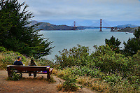 View of Golden Gate Bridge from Land's End Park