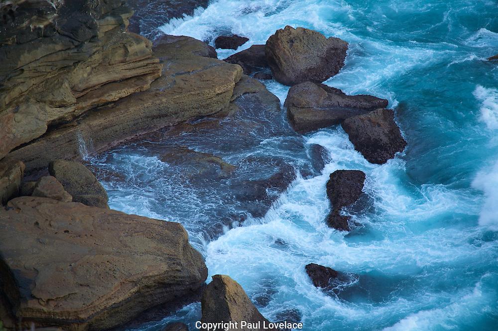 Wave crashing on rocks, Diamond Bay, Sydney