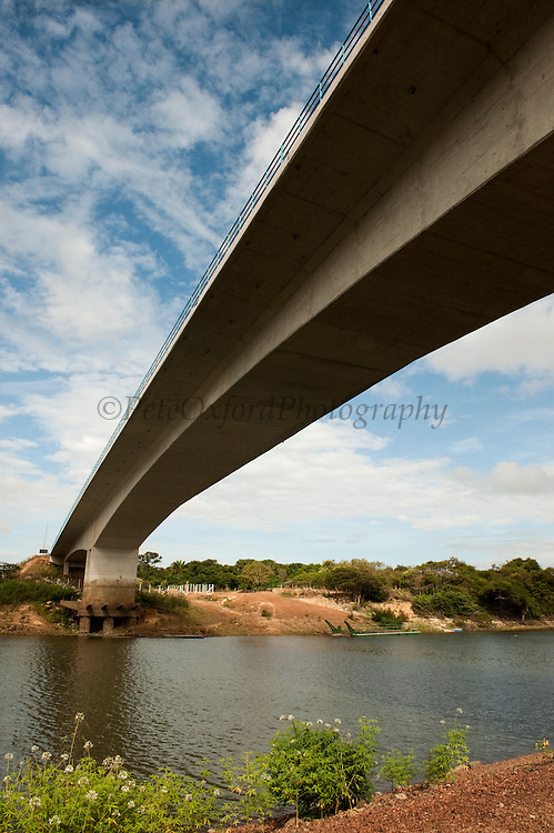 Bridge connecting Guyana to Brazil over Takutu River<br /> Lethem. Capital of Region 9 and border town with direct access to Boa Vista, Brazil.<br /> GUYANA<br /> South America