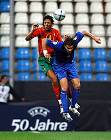 Fotball<br /> EM-sluttspill for U 21-landslag<br /> Italia v Portugal 3-1<br /> 5. juni 2004<br /> Tyskland<br /> Foto: Digitalsport<br /> NORWAY ONLY<br /> Bruno Alves Portugal, Gilardino Alberto, Italia