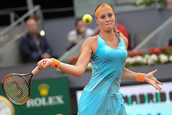 May 13, 2017 - Madrid, Spain - KRISTINA MLADENOVIC of France in the final of the Mutua Madrid Open tennis tournament. (Credit Image: © Christopher Levy via ZUMA Wire)