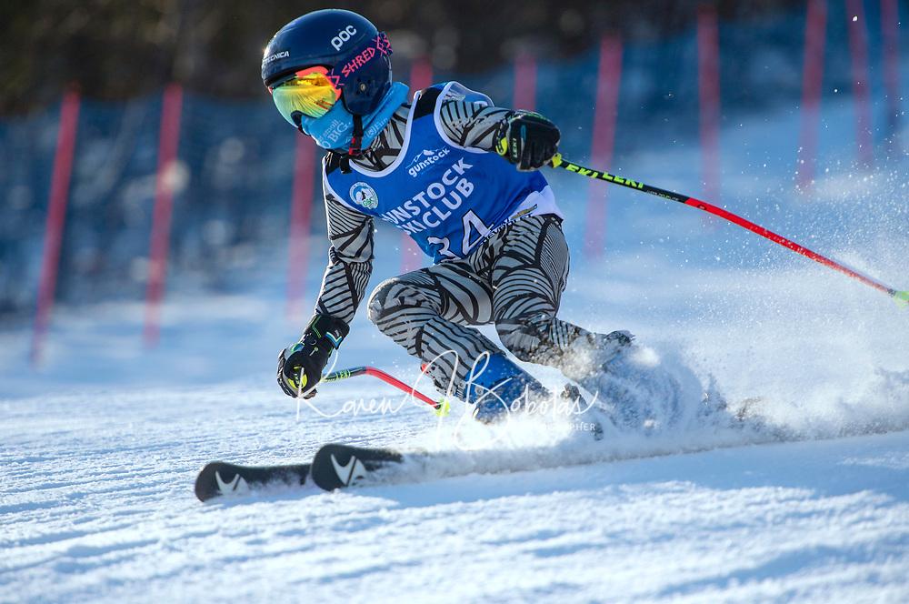 Gus Pitou GS with Gunstock Ski Club.   ©2021 Karen Bobotas Photographer