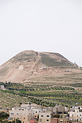 Israel, West Bank, Judaea, Herodion a castle fortress built by King Herod 20 B.C.E. The man-made hill