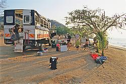 Campers At Livingstonia Beach